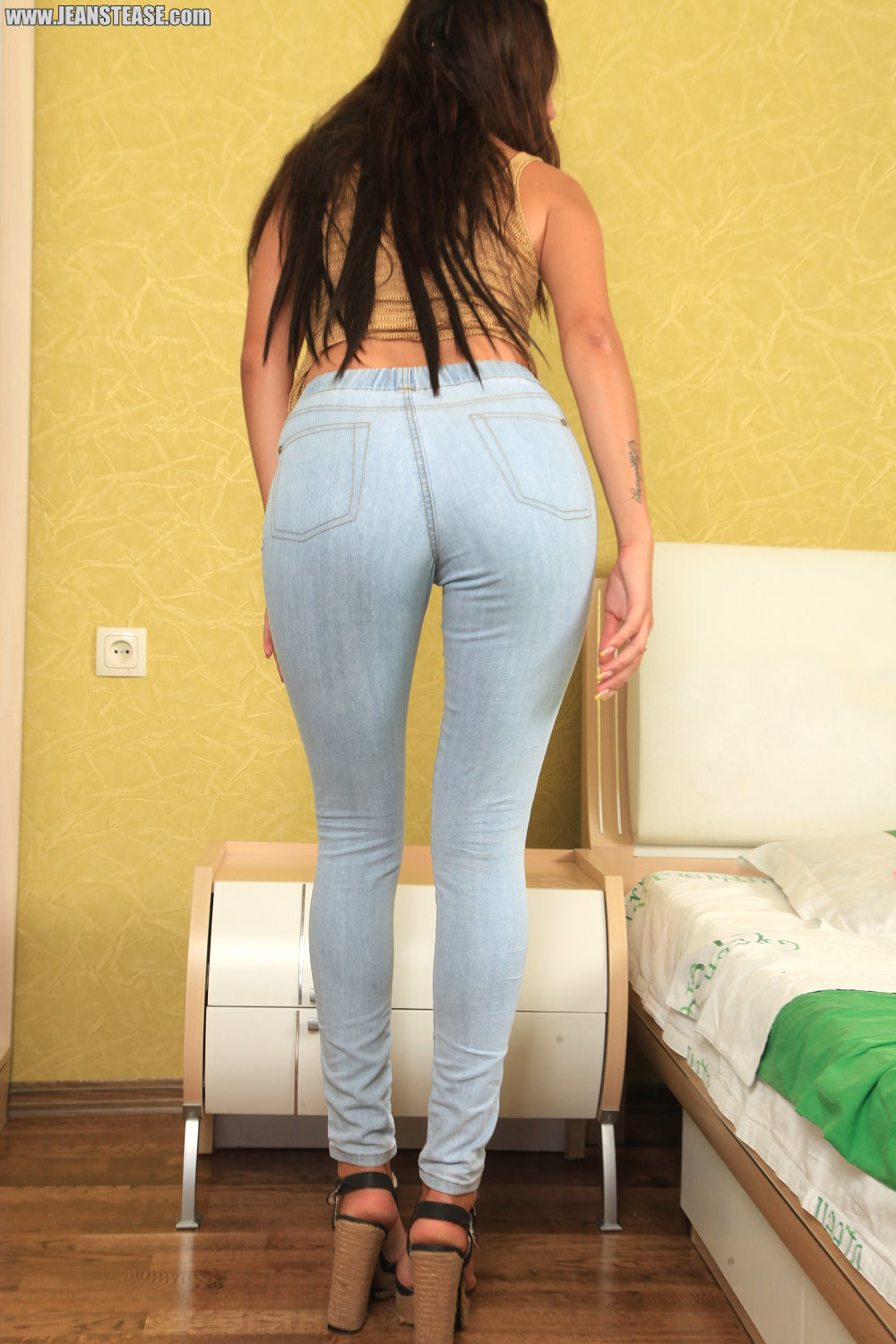 jeans Girls tease tight